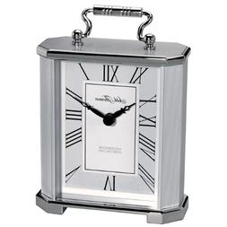 Seth Thomas Gabriel Silver Tone Metal Case with White and Gr