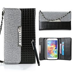 Galaxy S5 Case,By Caseland Galaxy S5 I9600 Handbag Wallet Ca