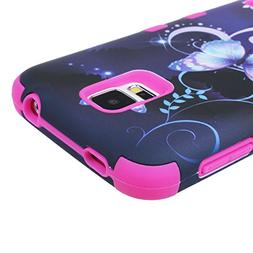 Galaxy S5 Case,Landfox Hybrid Impact Butterfly Shockproof Ca