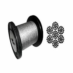 """Galvanized Aircraft Cable Wire Rope 1/8"""" 7x19 -100, 200, 250"""