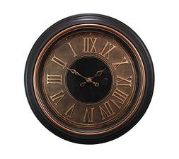 Kiera Grace Genoa Oversized Wall Clock with Raised Roman Num