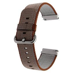 TRUMiRR 22mm Genuine Nylon Watch Band Quick Release Strap fo