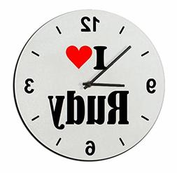 """Exclusive Gift Ideas: Glass Watch """"I Love Rudy"""" a Great gift"""