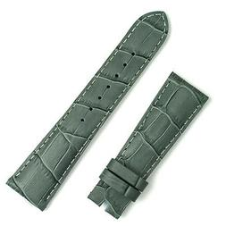 Gray Leather 'Gator Watch Band fits Bell & Ross Original Vin