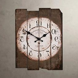 SMC H15 Country Style Vintage Wall Clock Home Decor Design A