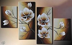 100% Hand-painted Wood Framed Oil Wall Art Warm Day Yellow F