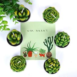 AI·X·IANG Tealight Cactus Candles for Home Decorative Cact