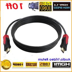 PREMIUM HDMI CABLE 10FT For BLURAY 3D DVD PS3 HDTV XBOX LCD