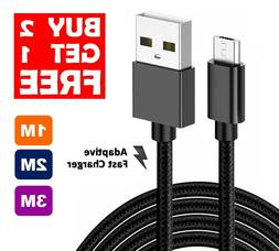 Heavy Duty Braided Extra Long Fast Charge Micro USB Sync Cha
