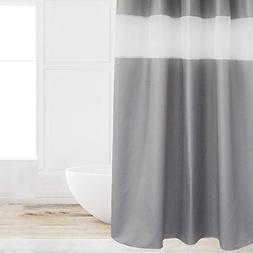 Eforcurtain Home Decorative Grey and White Organza Patchwork