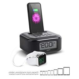 iHome iPL23 Stereo FM Clock Radio with Lightning Dock Charge