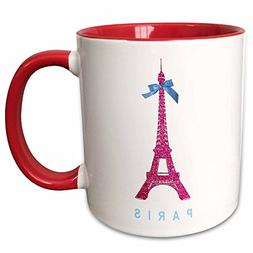 3dRose InspirationzStore French theme - Hot Pink Eiffel Towe