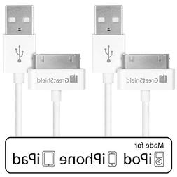 iPhone 4s Cable, GreatShield  Apple MFI Certified 30-Pin 2-i
