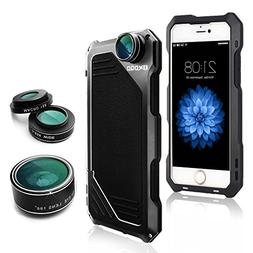 OXOQO iPhone 6 Plus /6s Plus Lens Kit, 3 in 1 Fisheye + Macr