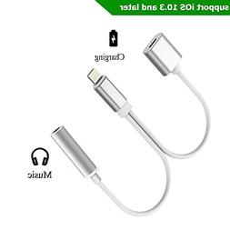 iPhone 7 Adapter, Lightning to 3.5mm Audio Adapter, ADABUNNY