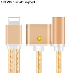 iPhone 7 and iPhone 7 Plus 2-in-1 Lightning Adapter + 3.5mm