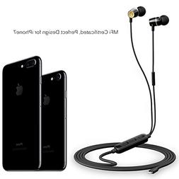 Zinsoko iPhone Earphones Lightning Earbuds MFi Certified wit