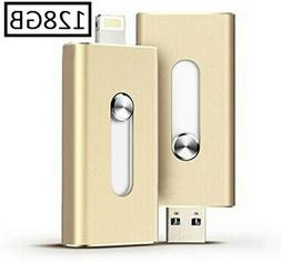 128GB iPhone USB Flash Drive, Pen-Drive Memory Storage, Jump