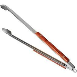 Outset Jackson-Rosewood Extra-Long Locking Tongs BBQ Barbequ