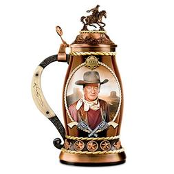 John Wayne Duke Porcelain Stein With Bronze Toned Metal Allo