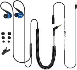 X1 Extra Long Cord Laptop Computer Earbuds With Microphone,
