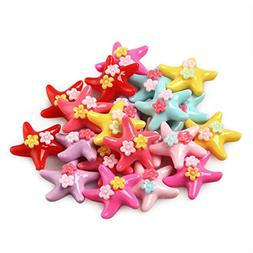 30 Pack Kawaii Animal Slime Charms Resin Beads Flatback Butt