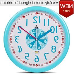 TXL Time Teaching Teacher Children Educational Wall Clock 12