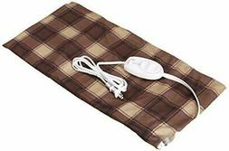 Sunbeam King Size Heating Pad Brown Plaid Design