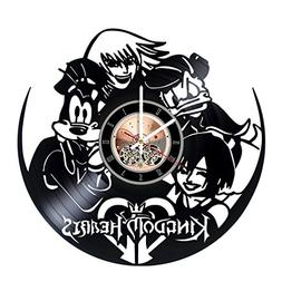 Kingdom Hearts Vinyl Record Wall Clock - Get unique Nursery