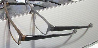 1 long temples READING GLASSES Black Brown power