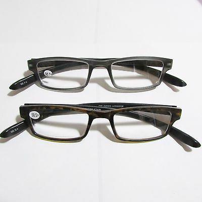 1 long READING GLASSES Black power