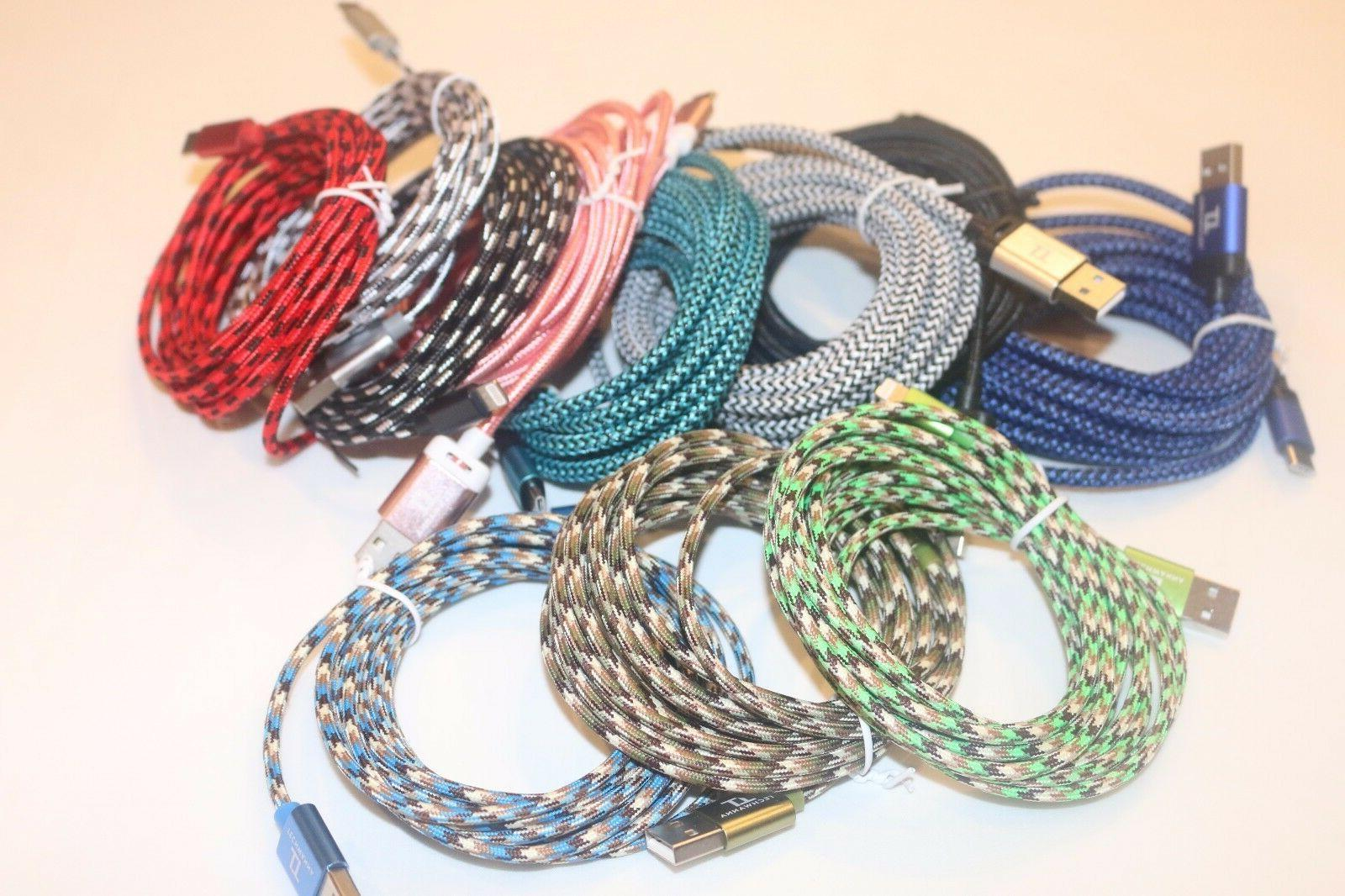 2x 10 FT extra long Braided Type C USB Cable Charging cord F