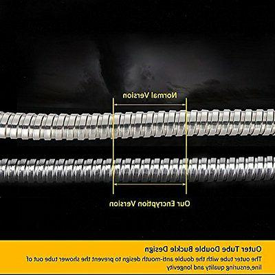 100-Inch Shower Hose Stainless Steel Extra Head Handheld