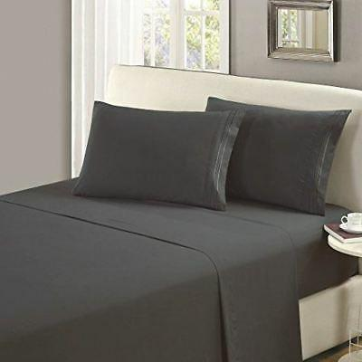 Mellanni 1800 Flat Sheet - Fade, Stain Resistant
