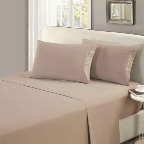 Mellanni Flat Sheet Wrinkle, Fade, Stain Resistant