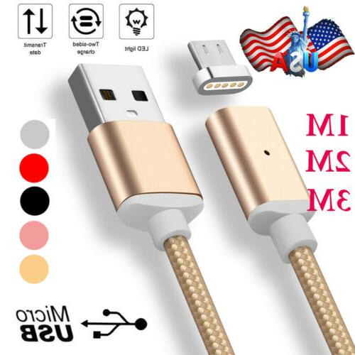 1M-3M 2.4A Current Magnetic Adapter Micro USB Fast Charging