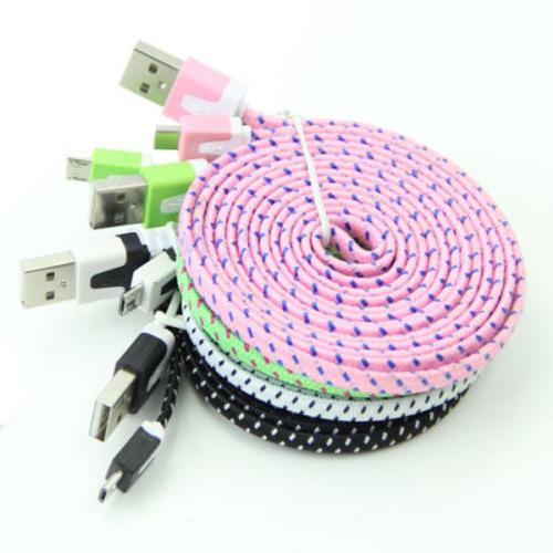 1pc Extra Long USB Data Cable Mobile Phones