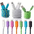 3/6/10FT Braided Lightning Sync Data Cable USB Charger For i