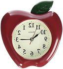 Westclox 3D Apple Analog Wall Clock - 10 Inches Modern Home