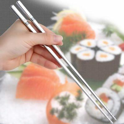 5 Pair 14 Inch Stainless Steel Hot Pot Chopsticks Cooking Frying