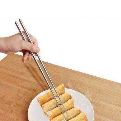 5 Pair 14 Inch Stainless Hot Pot Chopsticks Cooking Frying