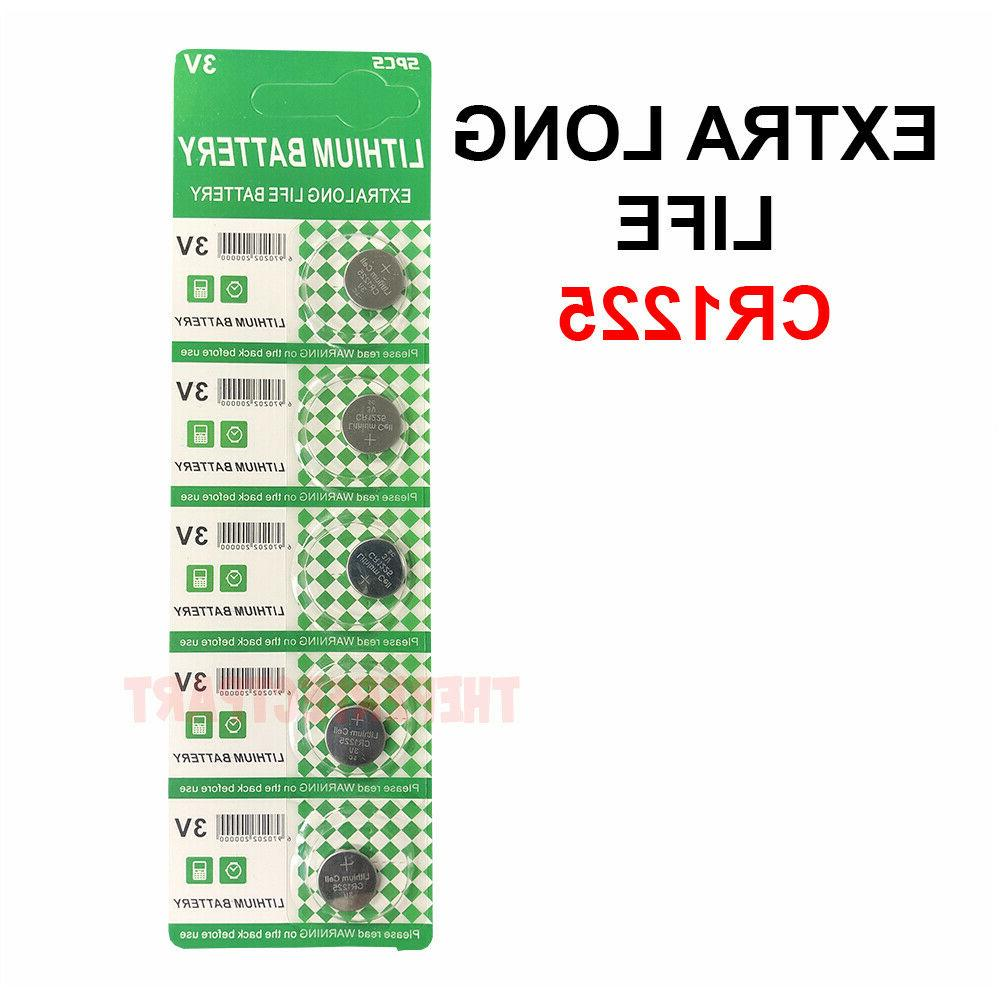 5 PCS New Lithium Battery 3V CR1225 /CR 1225 Button Cell Wat