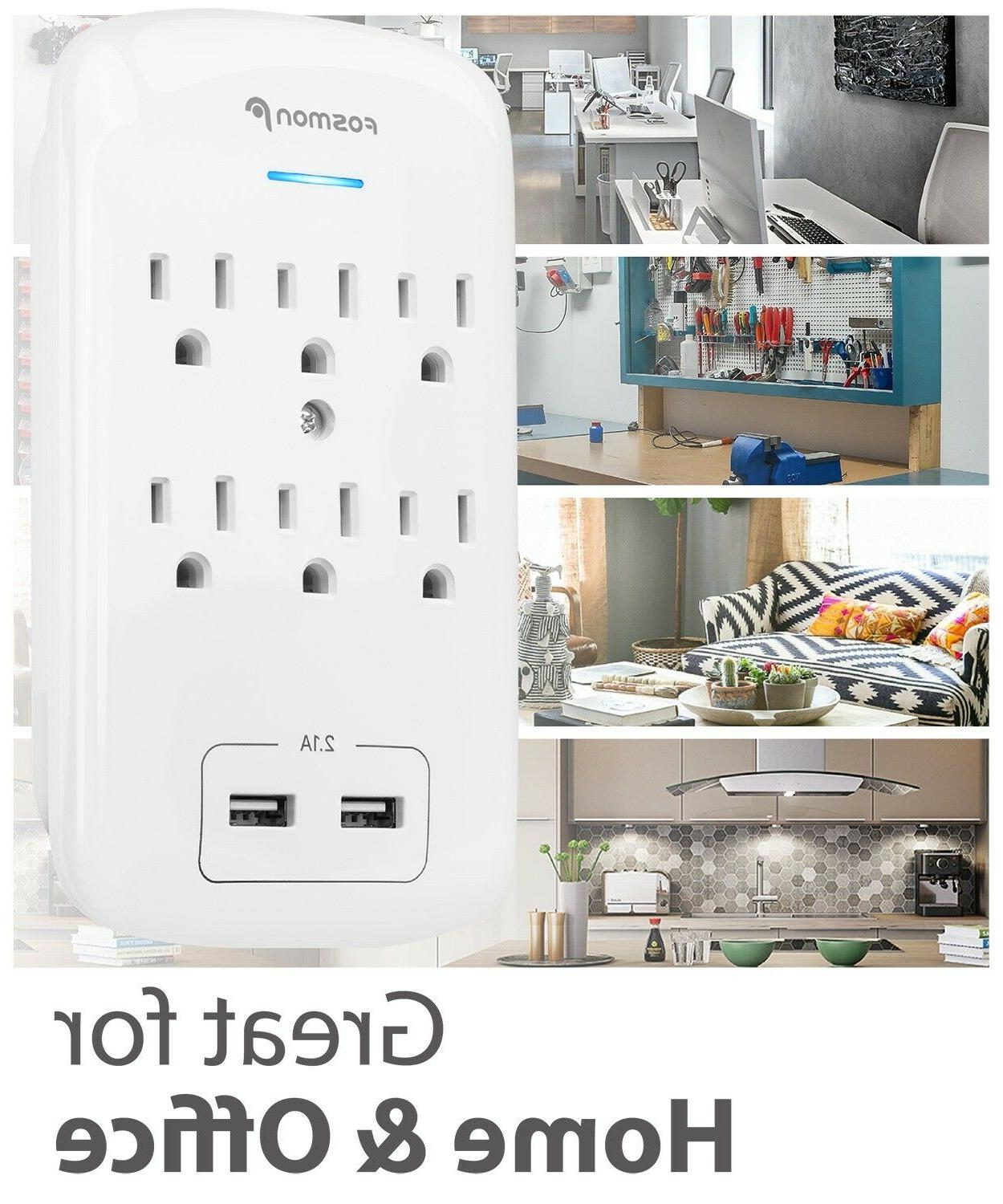6 Surge With USB Ports Wall