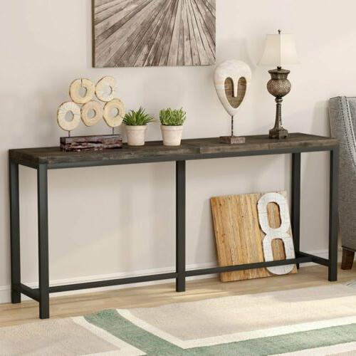 70.9'' Extra Long Narrow Entryway Hallway Table for Living R
