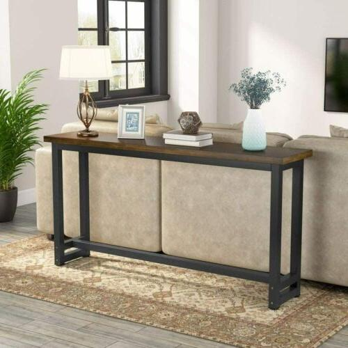 """Tribesigns 70.9"""" Extra Long Pine Wood Behind Couch Table, Ru"""