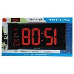 AcuRite 75100C 18-Inch Large Led Clock with Indoor Temperatu