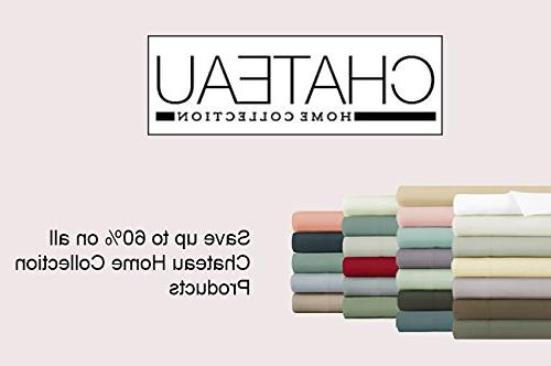 Chateau Home 800 Thread 100% Cotton 4-Piece Long-staple Combed Cotton Best-Bedding Deep & Silky