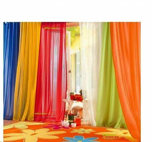 Elegant Solid Sheer Panel Window Curtain - All sizes - All c