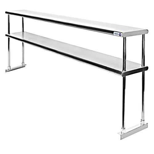 GRIDMANN Stainless Commercial Tier Overshelf x 12 in. for Kitchen Prep Work