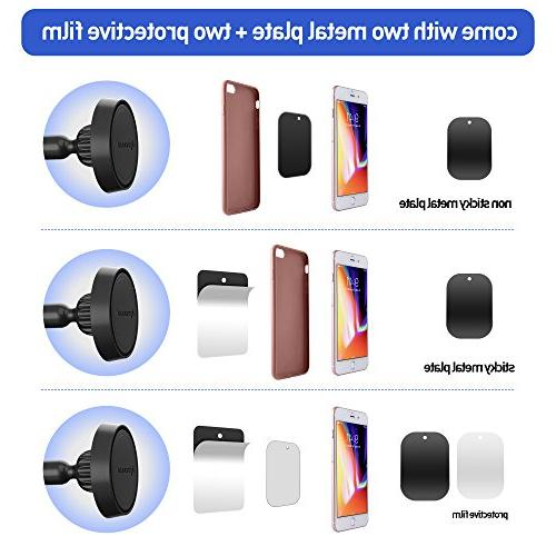 IPOW Truck Arm Magnetic Windshield Base Compatible X XR XS 8 6 5S, Galaxy S9 S9+ S8 S6 S5,Google, Huawei